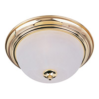 Maxim Lighting Signature 2 Light Flush Mount in Polished Brass 5841MRPB