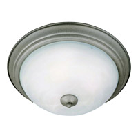 Maxim 5841MRPE Signature 2 Light 14 inch Pewter Flush Mount Ceiling Light in Marble, 60