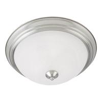 Maxim 5841MRSN Essentials - 584x 2 Light 14 inch Satin Nickel Flush Mount Ceiling Light in Marble 60