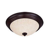 Maxim Lighting Signature 3 Light Flush Mount in Oil Rubbed Bronze 5842FIOI