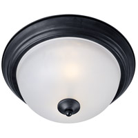 Maxim 5842FTBK Essentials - 584x 3 Light 16 inch Black Flush Mount Ceiling Light in Frosted