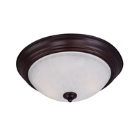 Essentials 3 Light 16 inch Oil Rubbed Bronze Flush Mount Ceiling Light in Ice