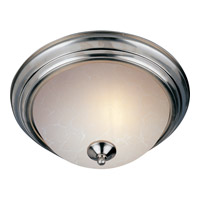 Maxim 5842ICSN Signature 3 Light 16 inch Satin Nickel Flush Mount Ceiling Light in Ice