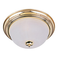 Maxim Lighting Signature 3 Light Flush Mount in Polished Brass 5842MRPB