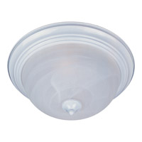 Signature 3 Light 16 inch White Flush Mount Ceiling Light in Marble
