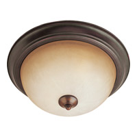 Signature 3 Light 16 inch Oil Rubbed Bronze Flush Mount Ceiling Light in Wilshire