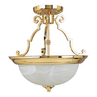 Maxim Lighting Signature 2 Light Semi Flush Mount in Polished Brass 5843MRPB