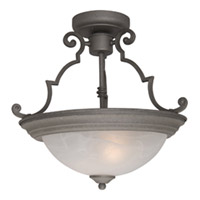 Maxim Lighting Signature 2 Light Semi Flush Mount in Pewter 5843MRPE