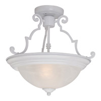 Maxim Lighting Signature 2 Light Semi Flush Mount in White 5843MRWT photo thumbnail