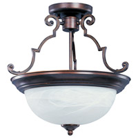 Signature 3 Light 17 inch Oil Rubbed Bronze Semi Flush Mount Ceiling Light