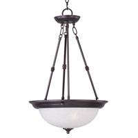 Essentials - 584x 3 Light 15 inch Oil Rubbed Bronze Invert Bowl Pendant Ceiling Light in Ice