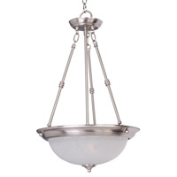 Essentials - 584x 3 Light 15 inch Satin Nickel Invert Bowl Pendant Ceiling Light in Ice