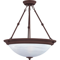 Signature 3 Light 15 inch Oil Rubbed Bronze Pendant Ceiling Light in Marble