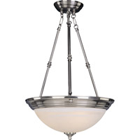 Signature 3 Light 15 inch Satin Nickel Pendant Ceiling Light in Marble