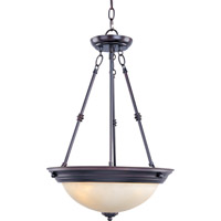 Maxim 5845WSOI Signature 3 Light 15 inch Oil Rubbed Bronze Pendant Ceiling Light in Wilshire