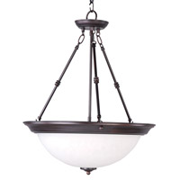 Essentials - 584x 3 Light 20 inch Oil Rubbed Bronze Invert Bowl Pendant Ceiling Light in Ice