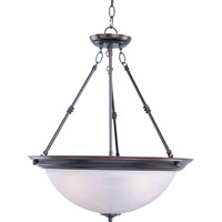 Signature 3 Light 20 inch Oil Rubbed Bronze Pendant Ceiling Light in Marble