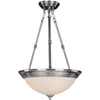 Signature 3 Light 20 inch Satin Nickel Pendant Ceiling Light in Marble