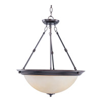 Maxim 5846WSOI Signature 3 Light 20 inch Oil Rubbed Bronze Pendant Ceiling Light in Wilshire