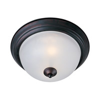 Maxim 5849FTOI Essentials - 584x 2 Light 12 inch Oil Rubbed Bronze Flush Mount Ceiling Light in Frosted