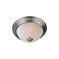 Maxim 5849FTSN Essentials - 584x 2 Light 12 inch Satin Nickel Flush Mount Ceiling Light in Frosted