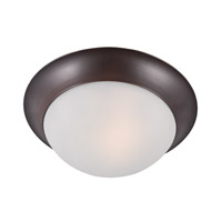 Maxim 5850FTOI Essentials-5850 1 Light 12 inch Oil Rubbed Bronze Flush Mount Ceiling Light in Frosted