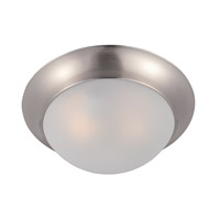 Maxim 5850FTSN Essentials-5850 1 Light 12 inch Satin Nickel Flush Mount Ceiling Light in Frosted