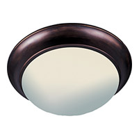 Maxim 5851FTOI Essentials-5850 2 Light 14 inch Oil Rubbed Bronze Flush Mount Ceiling Light in Frosted