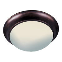 Maxim 5852FTOI Essentials-5850 3 Light 17 inch Oil Rubbed Bronze Flush Mount Ceiling Light in Frosted