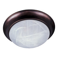 Maxim 5852MROI Signature 3 Light 17 inch Oil Rubbed Bronze Flush Mount Ceiling Light in Marble