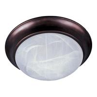 Maxim 5852MROI Essentials - 585x 3 Light 17 inch Oil Rubbed Bronze Flush Mount Ceiling Light in Marble