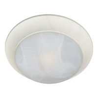 Maxim 5852MRTW Signature 3 Light 17 inch Textured White Flush Mount Ceiling Light in Marble