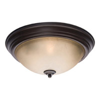 Maxim Lighting Signature 2 Light Flush Mount in Oil Rubbed Bronze 5855LTOI
