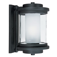 Maxim Lighting Lighthouse 1 Light Outdoor Wall Mount in Anthracite 5866CLFTAR