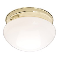 Maxim 5880WTPB Signature 1 Light 8 inch Polished Brass Flush Mount Ceiling Light