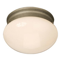 Maxim Lighting Signature 1 Light Flush Mount in Pewter 5880WTPE