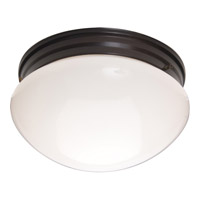 Maxim 5881WTOI Signature 2 Light 9 inch Oil Rubbed Bronze Flush Mount Ceiling Light