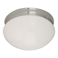 Maxim Lighting Signature 2 Light Flush Mount in Satin Nickel 5881WTSN