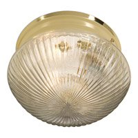 Maxim Lighting Signature 1 Light Flush Mount in Polished Brass 5882CLPB