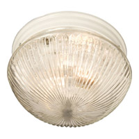 Maxim Lighting Signature 1 Light Flush Mount in White 5882CLWT