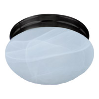 Signature 1 Light 8 inch Oil Rubbed Bronze Flush Mount Ceiling Light in Marble