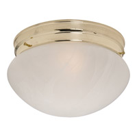 Maxim Lighting Signature 1 Light Flush Mount in Polished Brass 5884MRPB