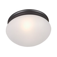 Maxim 5885FTOI Essentials - 588x 2 Light 9 inch Oil Rubbed Bronze Flush Mount Ceiling Light in Frosted