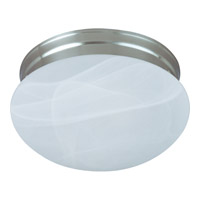 Signature 2 Light 9 inch Satin Nickel Flush Mount Ceiling Light in Marble