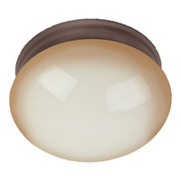 Signature 1 Light 8 inch Oil Rubbed Bronze Flush Mount Ceiling Light