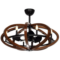 Fandelier 36 inch Antique Pecan and Anthracite Ceiling Fan