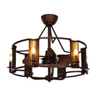 Candella 31 inch Chestnut Bronze and Gold Fandelier