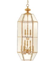 Maxim Lighting Bound Glass 12 Light Pendant in Polished Brass 60101CLPB
