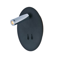 Maxim 60105BKPC Hotel LED 6 inch Black and Polished Chrome Wall Sconce Wall Light