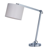 Hotel 19 inch 16.00 watt Polished Chrome Table Lamp Portable Light